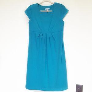 Liz Lange Maternity Ponte Knit Pleated Dress M